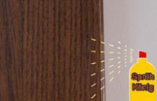 Закрепить отремонтированную область НЦ лак-спреем нужной степени блеска, распылив его с расстояния 30…40 см